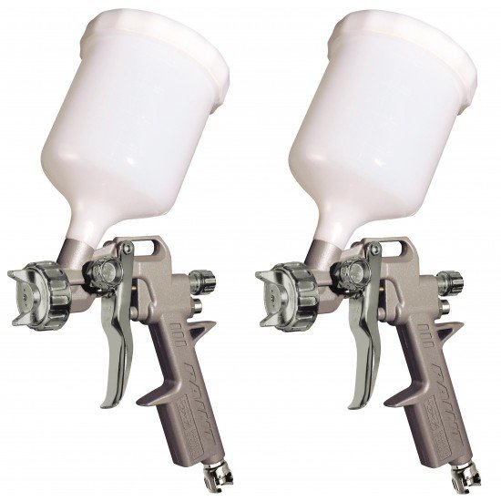 GAV 2 x Spray Guns 162 Series with 1.2 mm and 1.8 mm Nozzles - Made in Italy